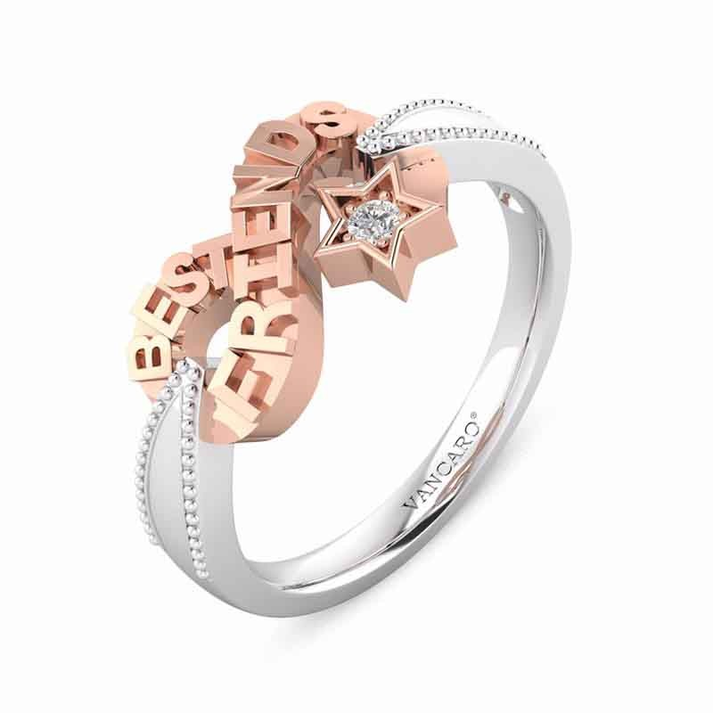 Rose Gold Infinity Ring Friendships