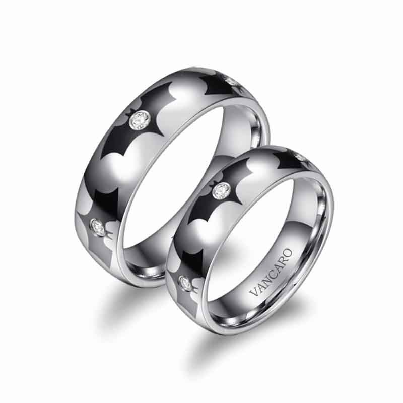 Batman Wedding Band Couple Rings His And Hers Ringsl-VANCARO
