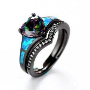 80b60825ec Black Promise Rings,Womens Black Rings,Black Wedding Rings,Black Engagement  Rings,Black Rings For Her